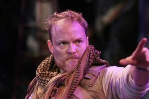"Guy Roberts as the Poet in ""An Iliad"" at Main Street Theater."