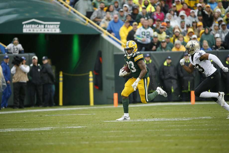 Green Bay's Aaron Jones rushed 448 yards and four TDs last season. Photo: Mike Roemer / Associated Press 2017