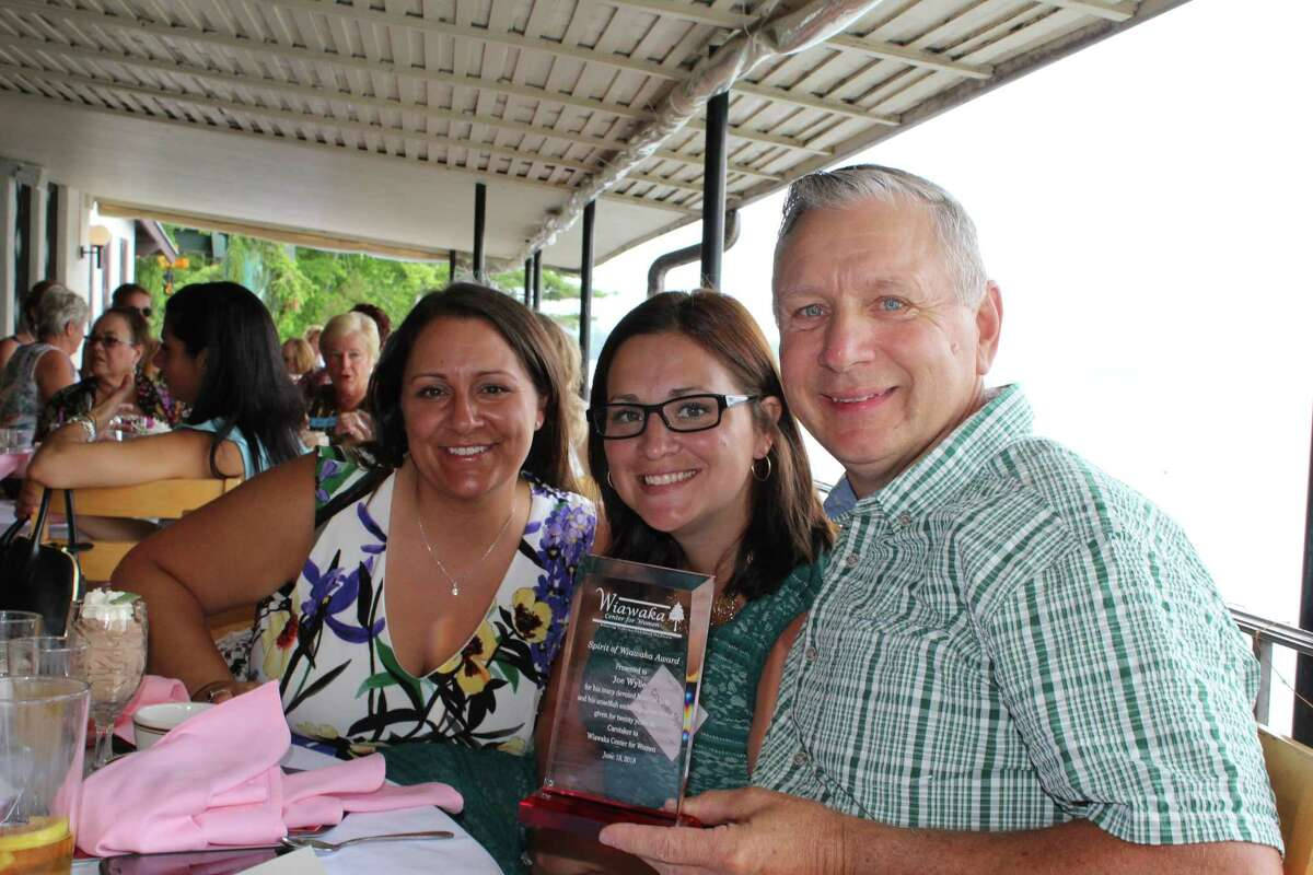 More than 160 people attended the 2018 Ladies of the Lake Luncheon on June 18 at the Lake George Club in Diamond Point, the Wiawaka Center for Women's major fundraiser. The Spirit of Wiawaka Award went to 20-year caretaker Joe Wylie. His daughters, Amanda and Courtney, were present. (Submitted photo)