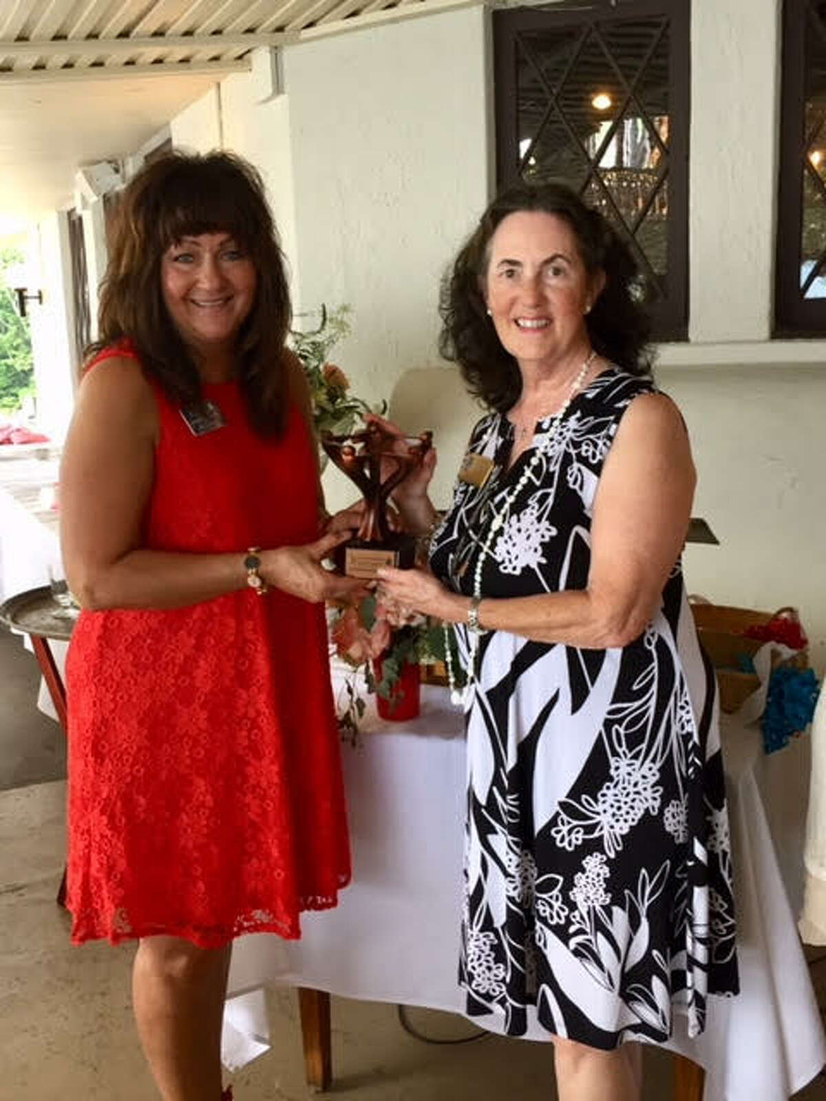 More than 160 people attended the 2018 Ladies of the Lake Luncheon was held on June 18 at the Lake George Club in Diamond Point, the Wiawaka Center for Women's major fundraiser. Over $16,000 was raised. The Mary Fuller Women Helping Women Award went to Soroptimist of the Adirondacks Service Committee.