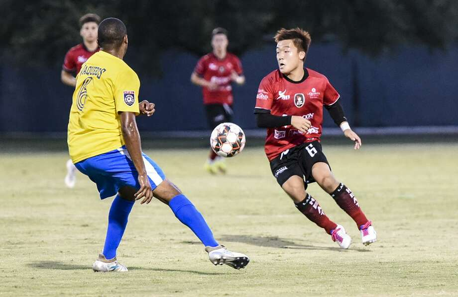 Yudai Tashiro and the Laredo Heat rematch with the Fort Worth Vaqueros at 8 p.m. Wednesday in the Lone Star Conference semifinals. The Heat beat the Vaqueros 1-0 Tuesday in the regular-season finale. Photo: Danny Zaragoza / Laredo Morning Times