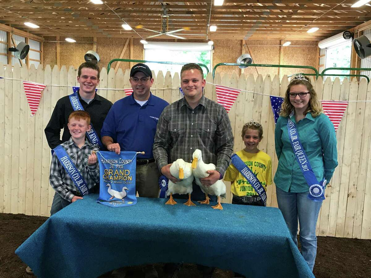 Kinder Morgan's Allen Fore purchased grand champion ducks at the Harrison County Fair in Ohio as the company sought to build goodwill within the communities along the route of its Utopia pipeline.