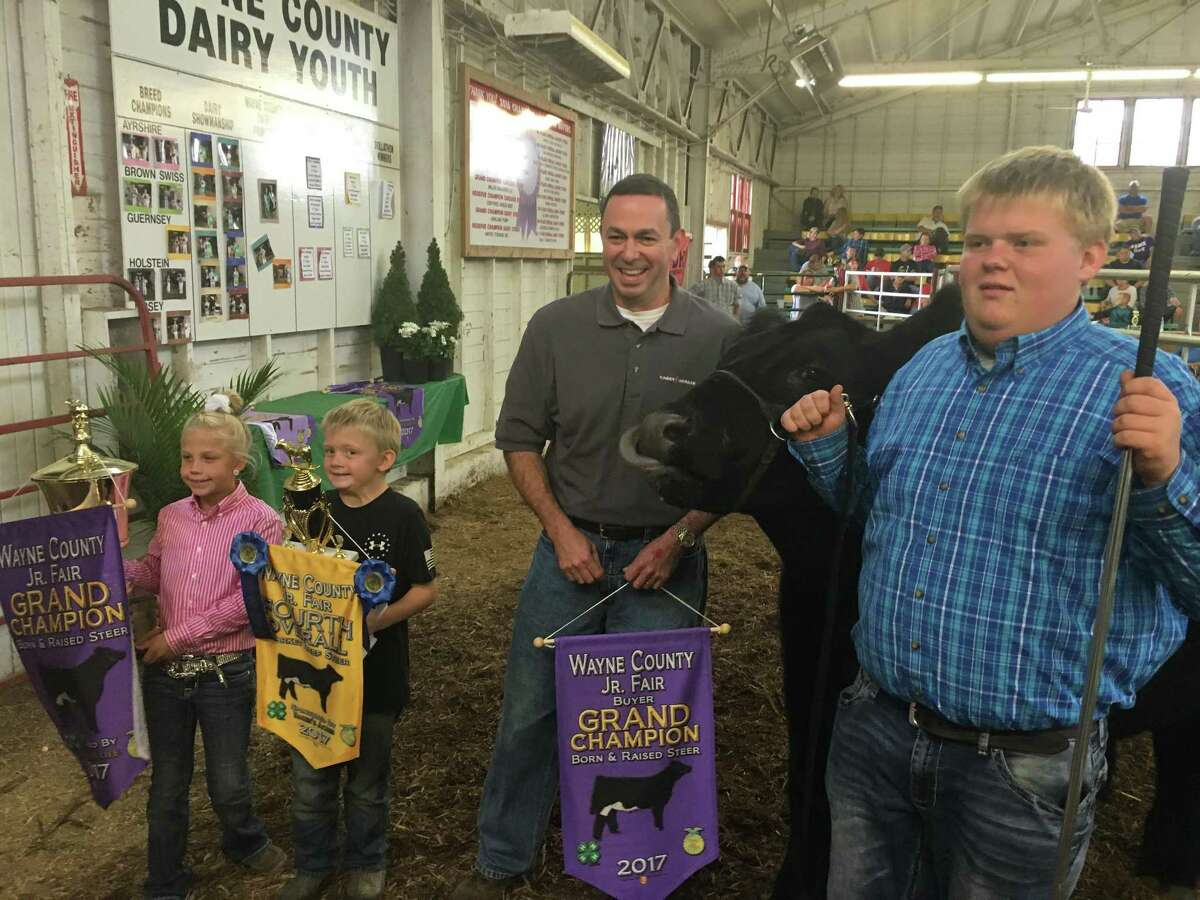 Kinder Morgan purchased the grand champion steer at the Wayne County Fair, one of several it visited as it built support for its Utopia Pipeline in Ohio.