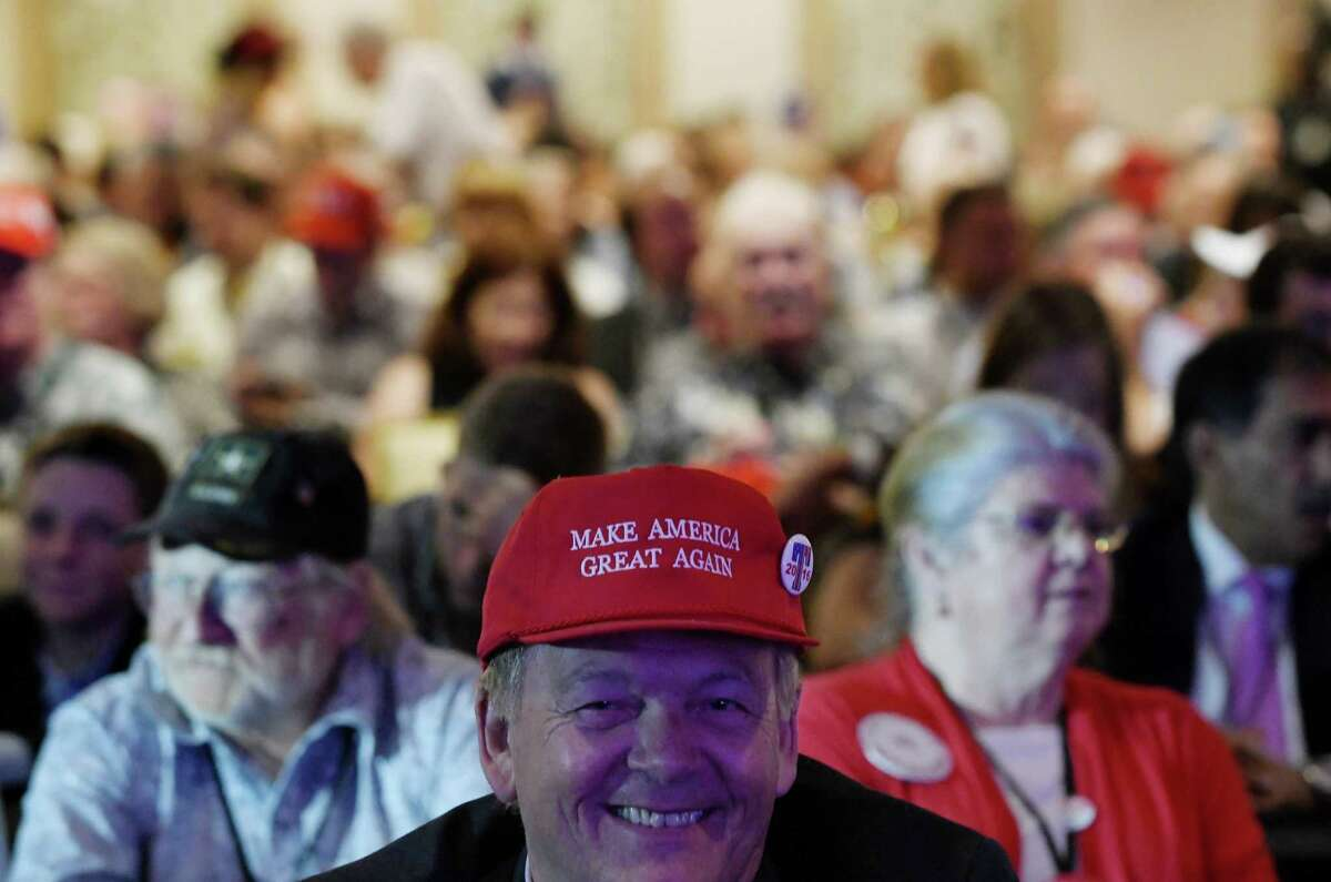 Supporters attend the Nevada Republican Party Convention at the Suncoast Hotel & Casino in Las Vegas, Nevada, on June 23, 2018. / AFP PHOTO / Olivier DoulieryOLIVIER DOULIERY/AFP/Getty Images