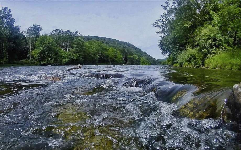 The Housatonic River in Gaylordsville, Conn. August, 2017. Photo: H John Voorhees III / Hearst Connecticut Media / The News-Times