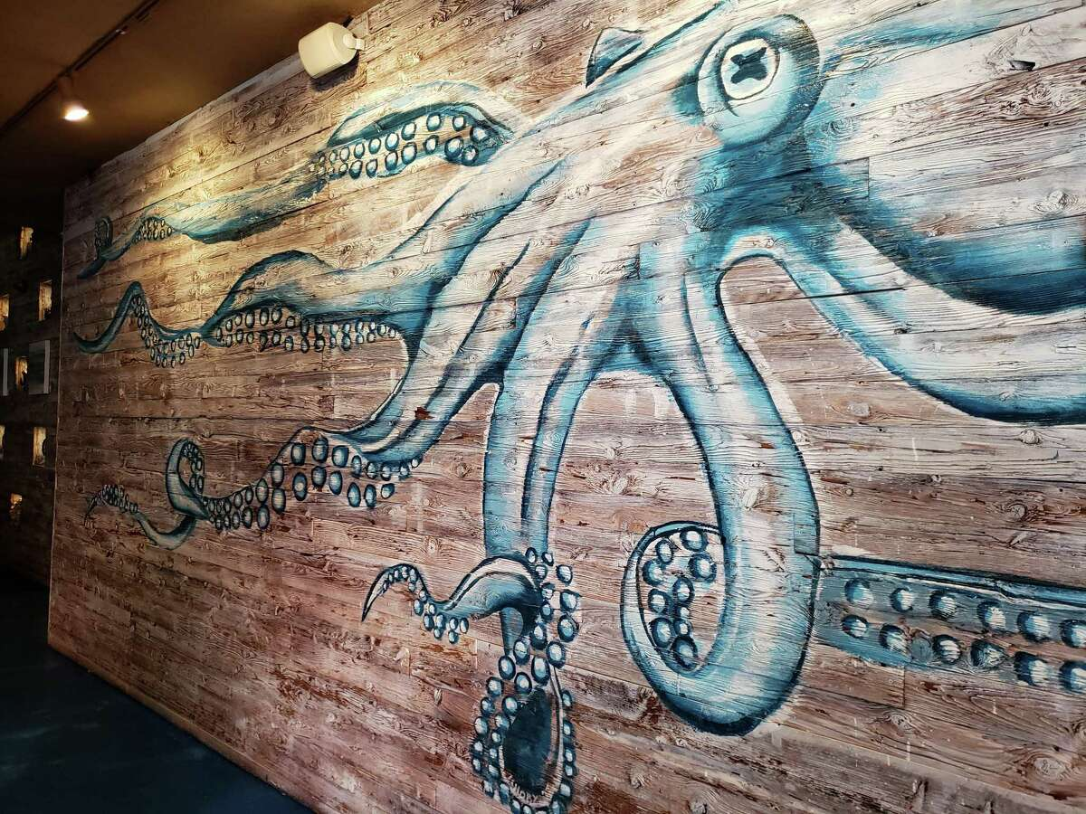 An octopus points the way to innovative seafood at the Saltwater Grill in SoNo.