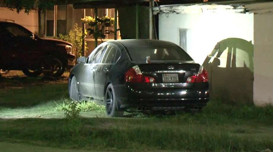 Houston police said a woman died after being intentionally run over in north Houston on Tuesday