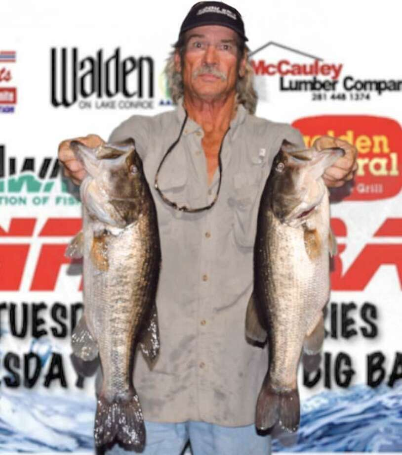 Richard Tatsch won the CONROEBASS Tuesday Tournament with a stringer total weight of 13.23 pounds. Photo: CONROEBASS
