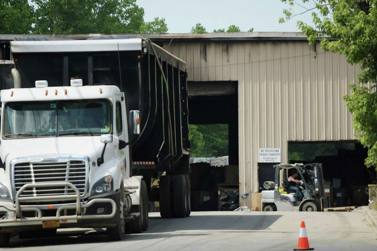 A view of the NH Kelman Scrap Recycling business on Wednesday, July 4, 2018, in Cohoes, N.Y. The scrap metal business suffered damage from a fire that began at business on Saturday. (Paul Buckowski/Times Union)