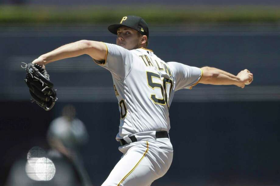 Pittsburgh Pirates starting pitcher Jameson Taillon works against a San Diego Padres batter during the first inning of a baseball game Sunday, July 1, 2018, in San Diego. (AP Photo/Gregory Bull) Photo: Gregory Bull, STF / Associated Press / Copyright 2018 The Associated Press. All rights reserved