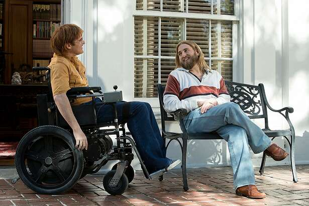 """Joaquin Phoenix and Jonah Hill in """"Don't Worry, He Won't Get Far on Foot"""" (2018), directed By Gus Van Sant."""