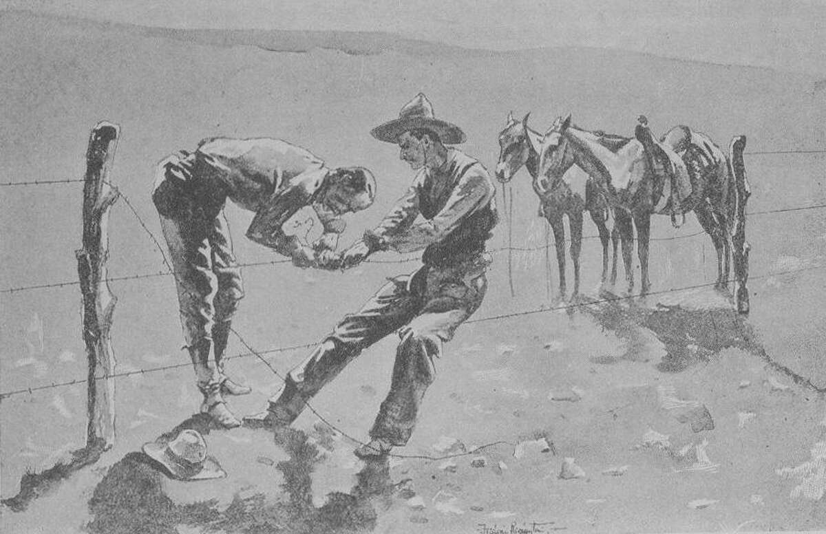 Frederic Remington immortalized barbed wire with his drawing