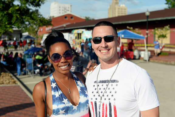 Brandi and Oscar Lozano at the City of Beaumont's July 4 celebration at the Event Centre.  Photo taken Wednesday 7/4/18 Ryan Pelham/The Enterprise