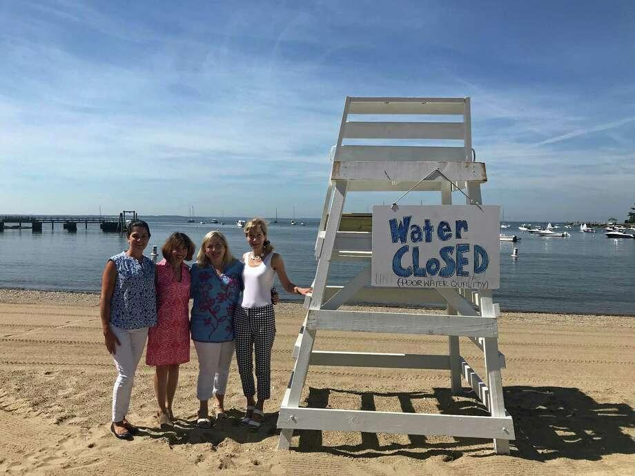 From left: Paola Sordini, Laura Pesce-Gray, Lucia Zachowski and Juliet Cain. Photo: Humberto J. Rocha / Hearst Connecticut Media / Darien News