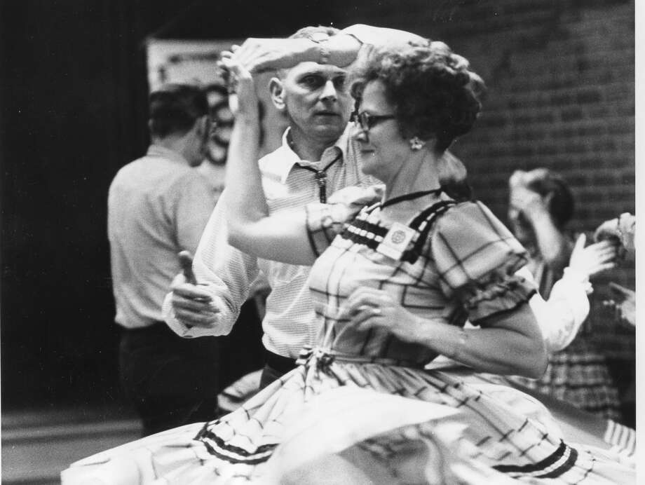 Square dancing. Charles and Lola Neal. February 1974 Photo: Daily News File Photo
