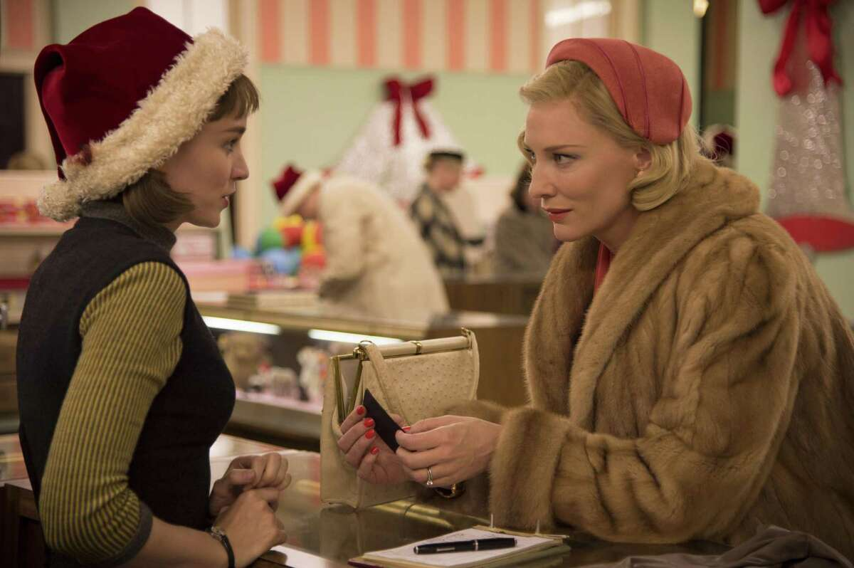 """Rooney Mara (left) and Cate Blanchett in """"Carol"""" - a surprising relationship."""