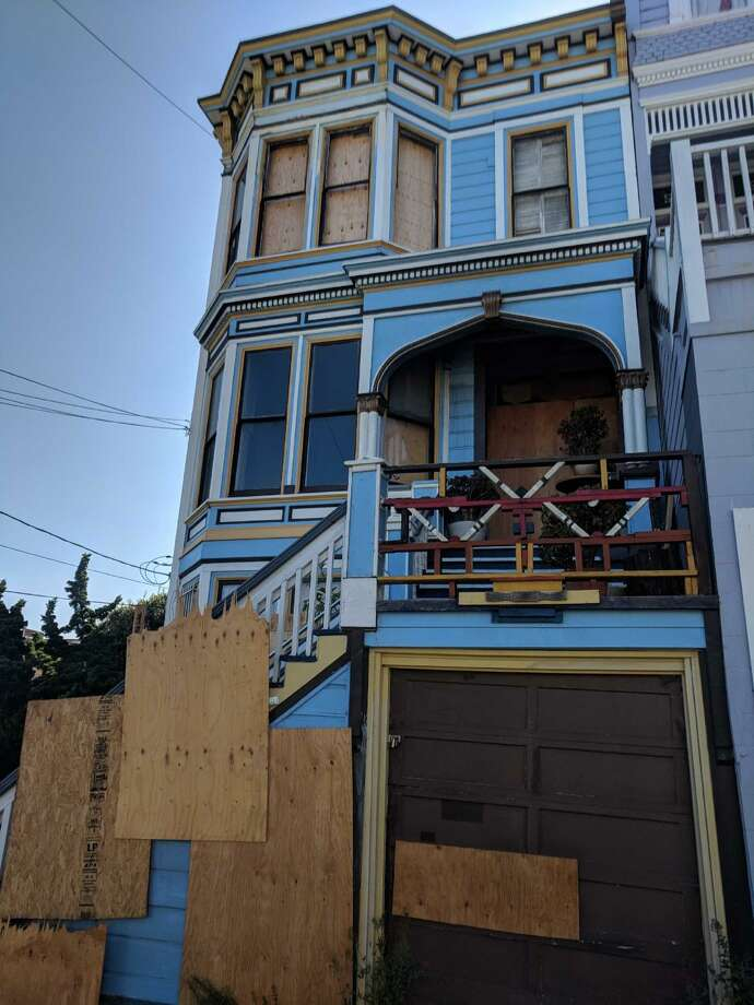 A Castro duplex that recently burned in a house fire sold for $2 million. Photo: Graff