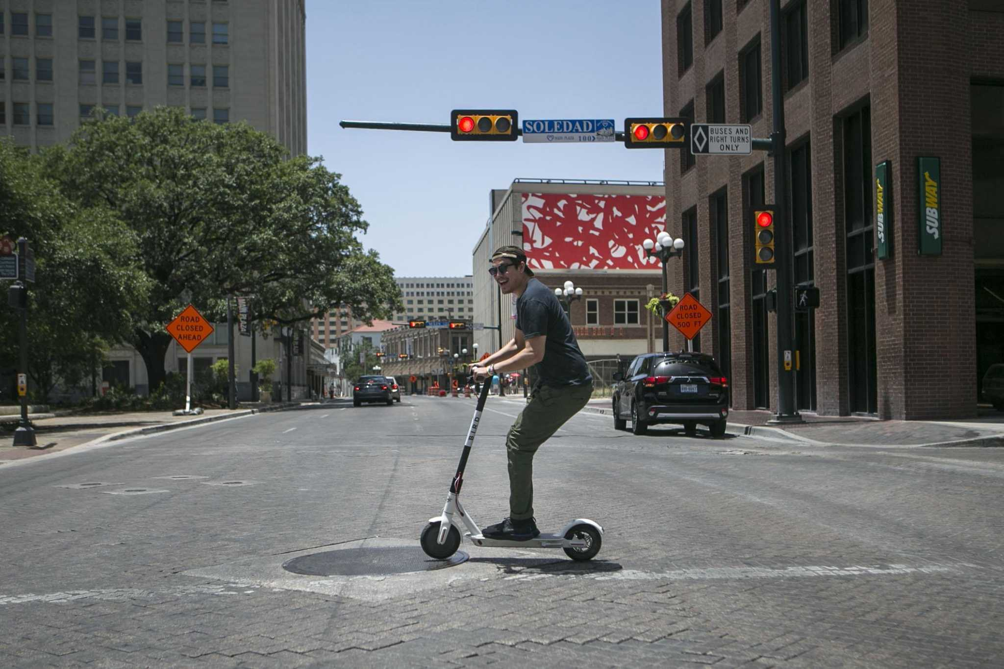 Downtown Gets The Bird With Fun To Ride Scooters San