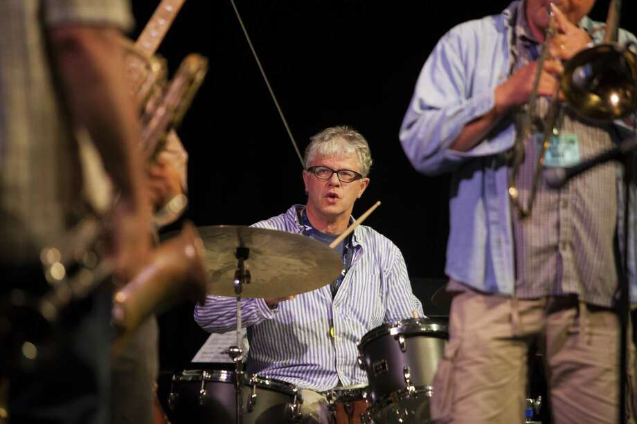 The Litchfield Jazz Camp is holding free concerts at the Gunnery this month, in advance of the Litchfield Jazz Festival in Goshen July 28-29. Above, Matt Wilson performs with students. Photo: Dale Rothenberg / Contributed Photo