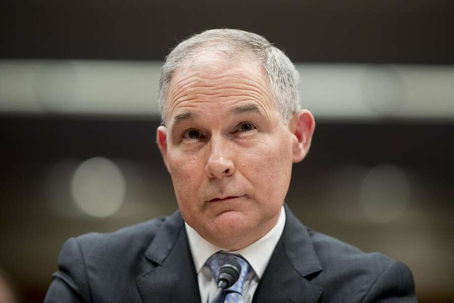 FILE - In this May 16, 2018, file photo, Environmental Protection Agency Administrator Scott Pruitt appears before a Senate Appropriations subcommittee on the Interior, Environment, and Related Agencies on budget on Capitol Hill in Washington. President Trump tweeted Thursday, July 5, he accepted the resignation of Pruitt. (AP Photo/Andrew Harnik, File) Photo: Andrew Harnik / Associated Press