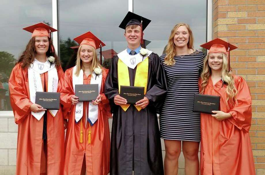 (From left) Caitlin Brown, Skylar Deer, Jesse Bischer, Jenna Arndt, & Emily Strozeski. (Submitted Photo)