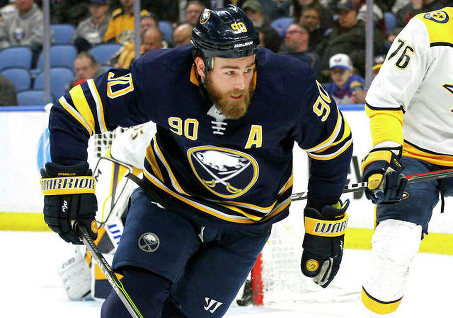 Former Buffalo forward Ryan O'Reilly (90) feels a spark after the Blues acquired him in a trade with the Sabres. The 27-year-old center lamented losing his love for the game after a third consecutive losing season and says he is excited about the move. He is shown playing in a game last season. Photo:       AP File