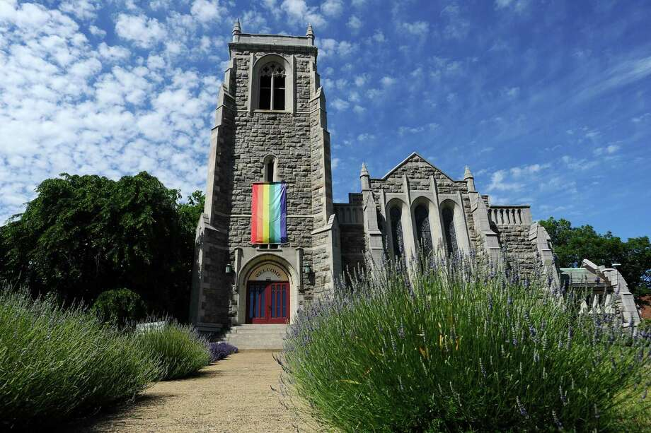 The First Congregational Church of Stamford on Monday, June 13, 2016. Photo: Michael Cummo / Hearst Connecticut Media / Stamford Advocate