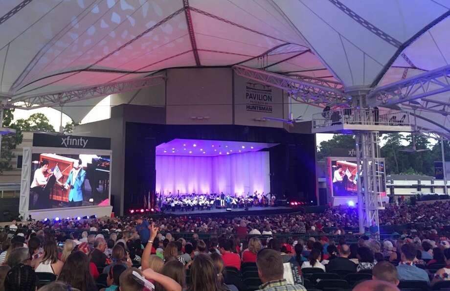 The Houston Symphony performs the annual Star-Spangled Salute in front of a packed audience at the Cynthia Woods Mitchell Pavilion on Tuesday, July 3, 2018. Photo: Patricia Dillon / The Woodlands Villager