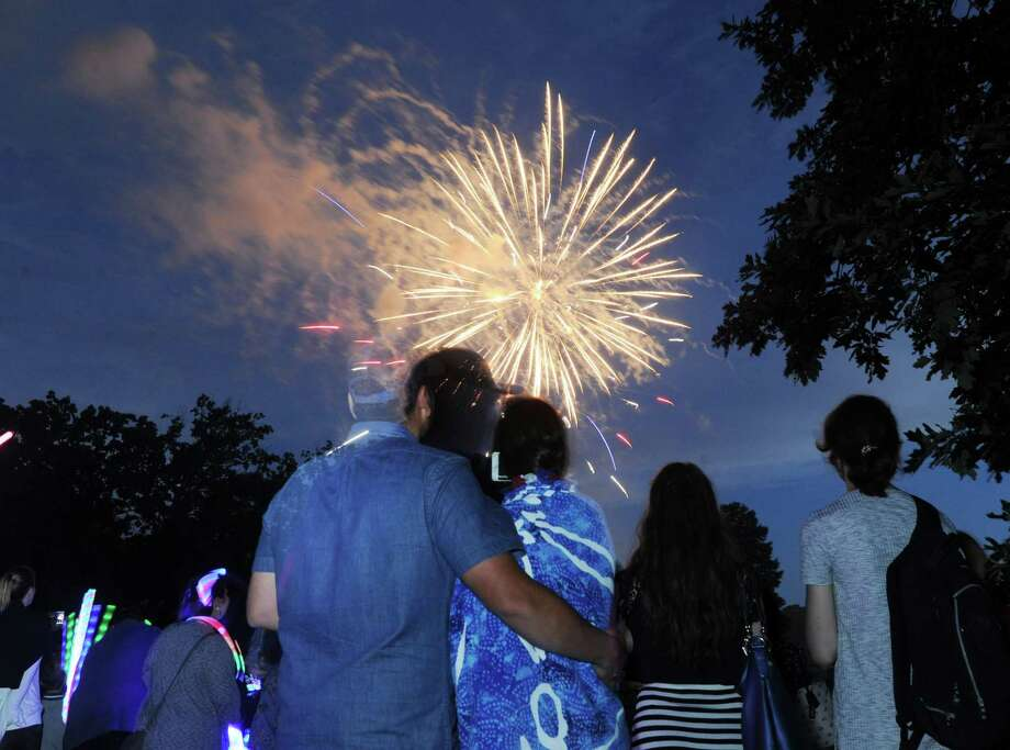 The annual Town of Greenwich fireworks display and Fourth of July celebration at Binney Park in Old Greenwich, Conn., Saturday, July 1, 2017. Photo: Bob Luckey Jr. / Hearst Connecticut Media / Greenwich Time