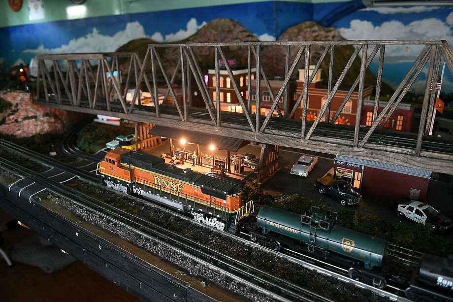 The O-scale Tomball & Walden Model Railway inside the Caboose at the Tomball Depot on July 3, 2018. (Jerry Baker/For the Chronicle) Photo: Jerry Baker, For The Chronicle