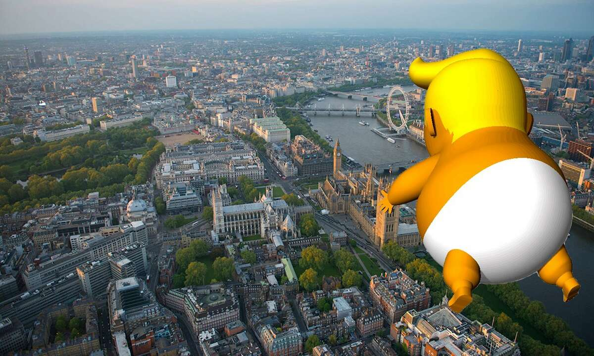 Trump Baby UK A group started a crowdfunding campaign to raise money to fly a 20-foot-tall balloon of President Donald Trump as a baby in a nappy over London.