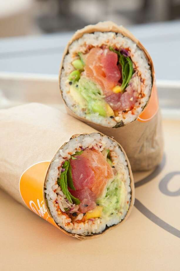 Poke burrito from Pokeworks in Houston. Photo: Pokeworks / Pokeworks
