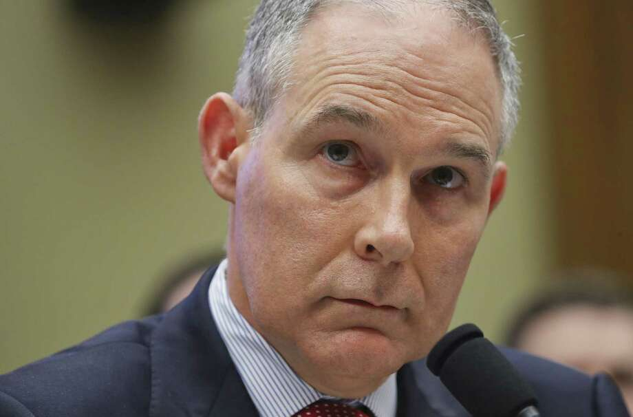 Environmental Protection Agency Administrator Scott Pruitt before the House Energy and Commerce subcommittee on April 26. President Trump tweeted Thursday, July 5, he accepted the resignation of Pruitt. Photo: Pablo Martinez Monsivais / Associated Press File / Copyright 2018 The Associated Press. All rights reserved.