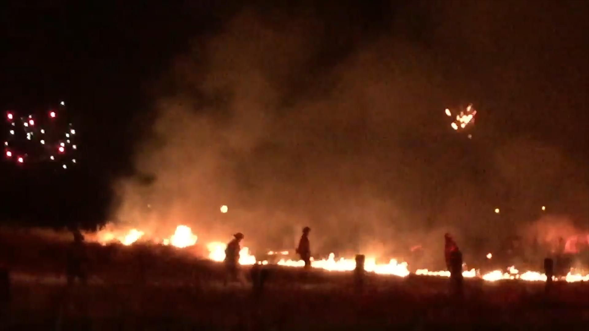 Video captures Sacramento firefighters battling blazes as fireworks ...