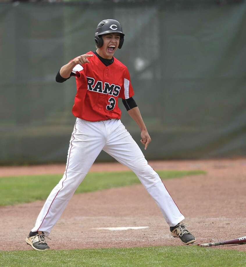 Ian Battipaglia, seen here while playing for Cheshire High School, had a pair of hits in Thursday's Rawlings Futures Showcase in New Britain. Photo: Matthew Brown / Hearst Connecticut Media File Photo / Stamford Advocate