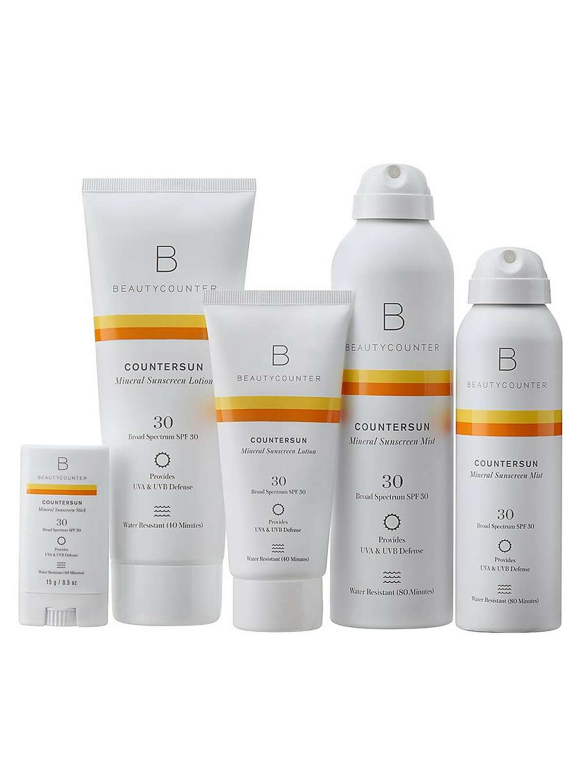 Beautycounter's Countersun Mineral Sunscreen Lotion SPF 30�is a water-resistant, reef-friendly sunscreen that also comes in a non-nanoparticle mist and solid stick. $20.