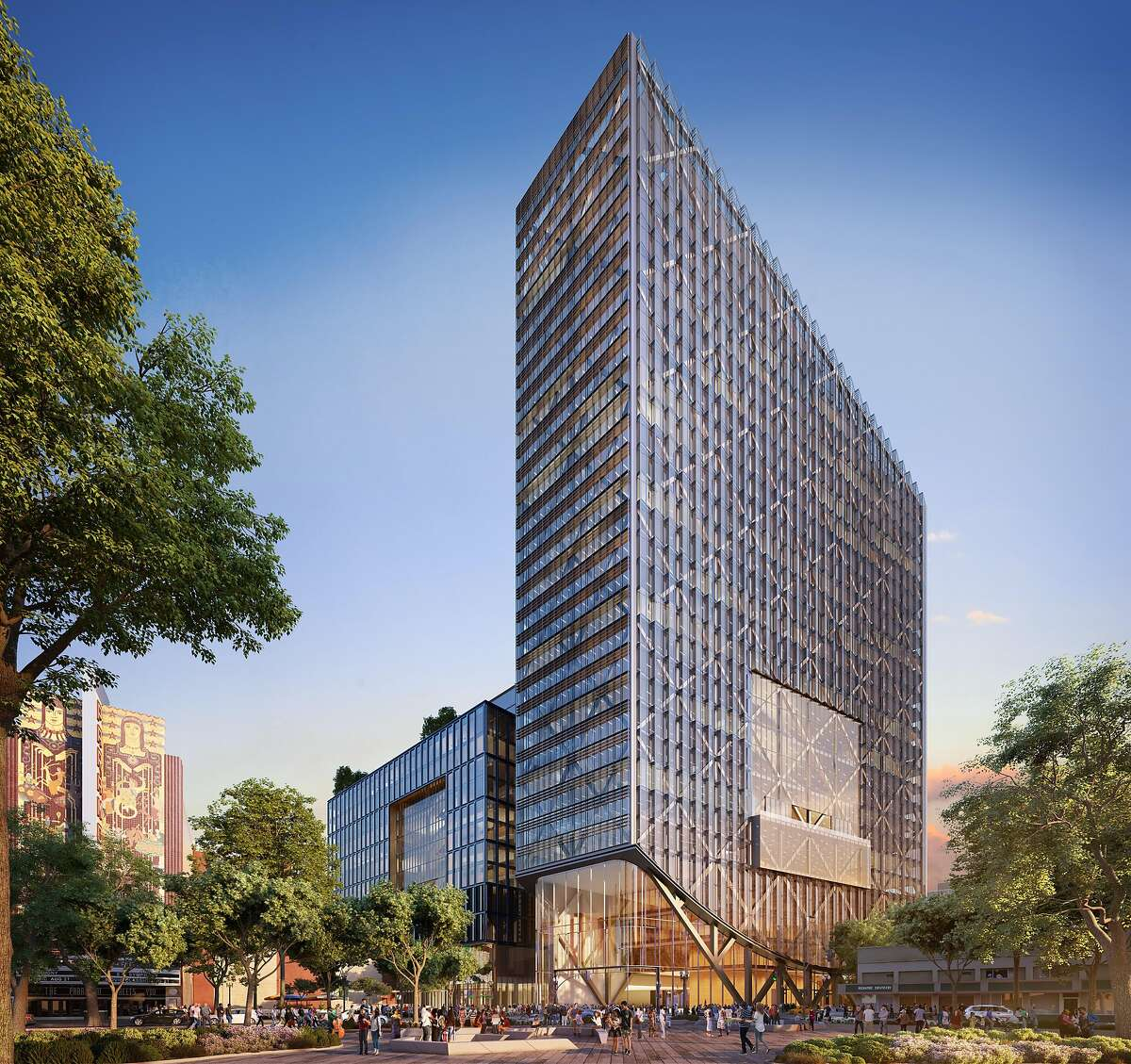 A rendering of Eastline, a proposed Oakland project that would add more than a Salesforce Tower's worth of office space.