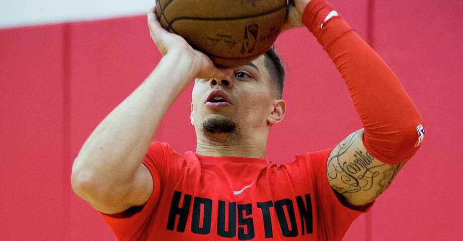 Houston Rockets guard Rob Gray takes a shot during practice for the Rockets NBA rookie summer league at Toyota Center on Thursday, July 5, 2018, in Houston. ( Brett Coomer / Houston Chronicle ) Photo: Brett Coomer/Houston Chronicle / © 2018 Houston Chronicle