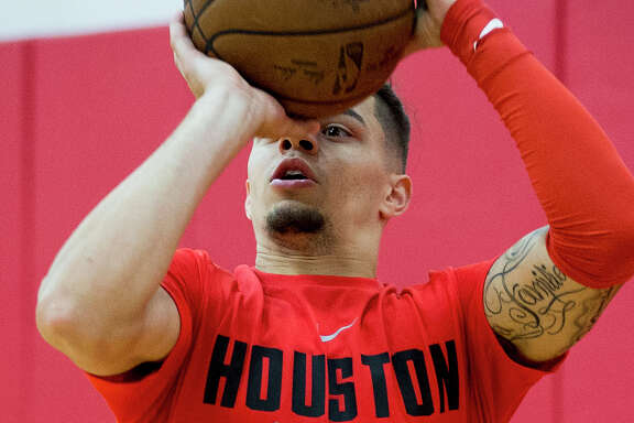 Houston Rockets guard Rob Gray takes a shot during practice for the Rockets NBA rookie summer league at Toyota Center on Thursday, July 5, 2018, in Houston. ( Brett Coomer / Houston Chronicle )