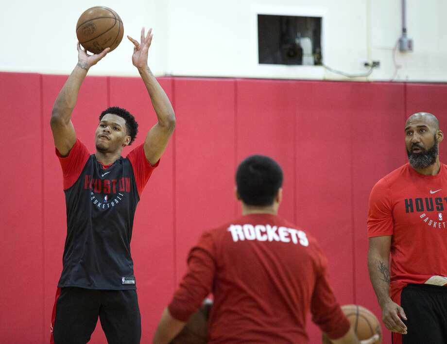 Houston Rockets forward Trevon Duval takes a shot during practice for the Rockets NBA rookie summer league at Toyota Center on Thursday, July 5, 2018, in Houston. ( Brett Coomer / Houston Chronicle ) Photo: Brett Coomer/Houston Chronicle