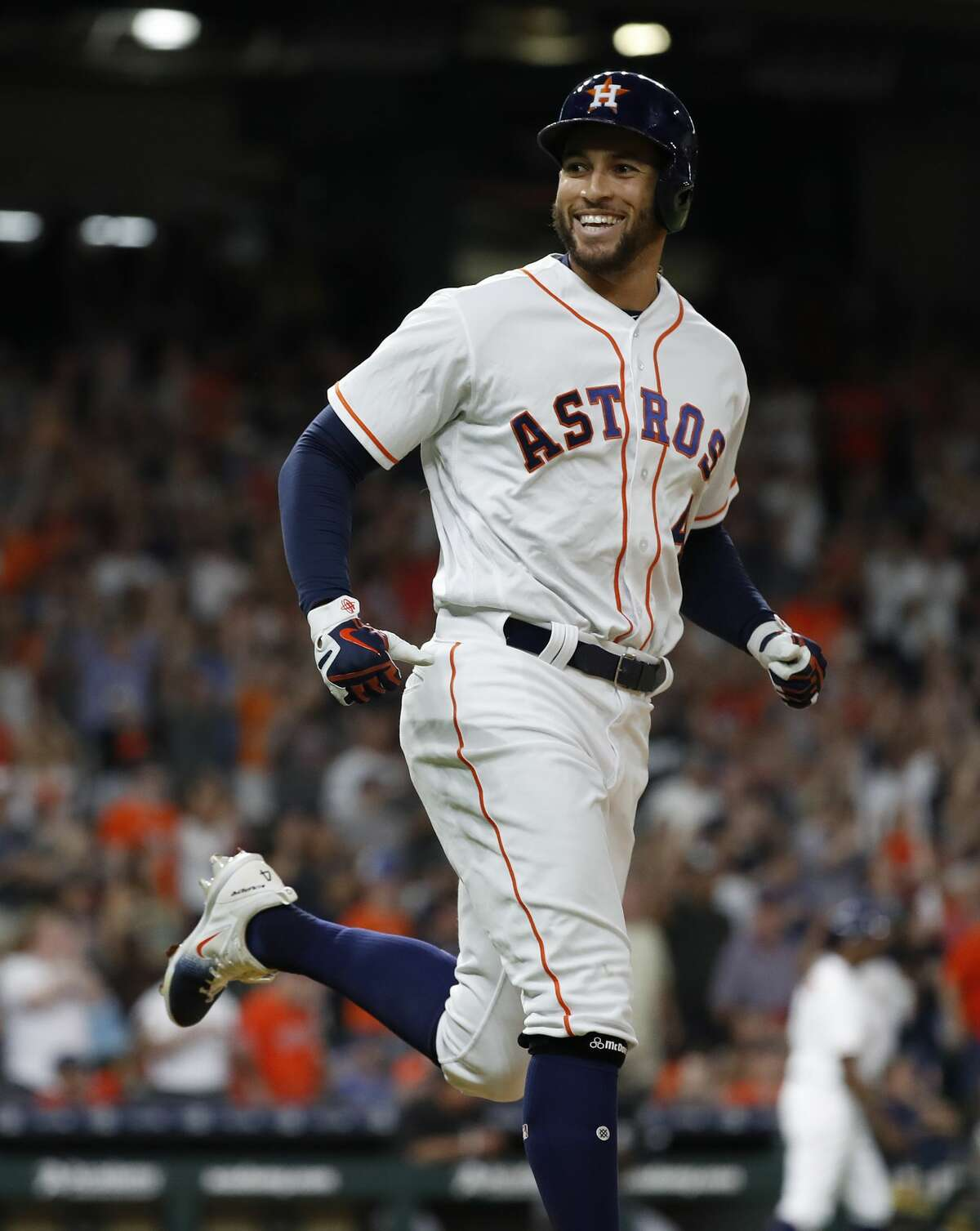 HOUSTON ASTROS WALK-UP SONGS George Springer Current song:No Cap (Future/Young Thug) Listen here Previous songs this season: Butterfly Effect (Travis Scott) Listen here Three Little Birds (Bob Marley) Listen here