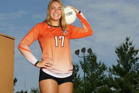 Edwardsville's Rachel Pranger is the 2017 Large-Schools Volleyball Player of the Year, completing a four-year sweep of the award in a career that will play on at the Division I level with Bradley.