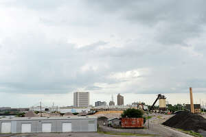 The Port of Beaumont and Allegiant Industrial Island Park bought 75 acres of land on the Neches River that will be used as a fabrication facility, paint shop and docks. The site was formerly home to the CB&I facility, which closed after flooding during Harvey. Thursday, July 5, 2018 Kim Brent/The Enterprise