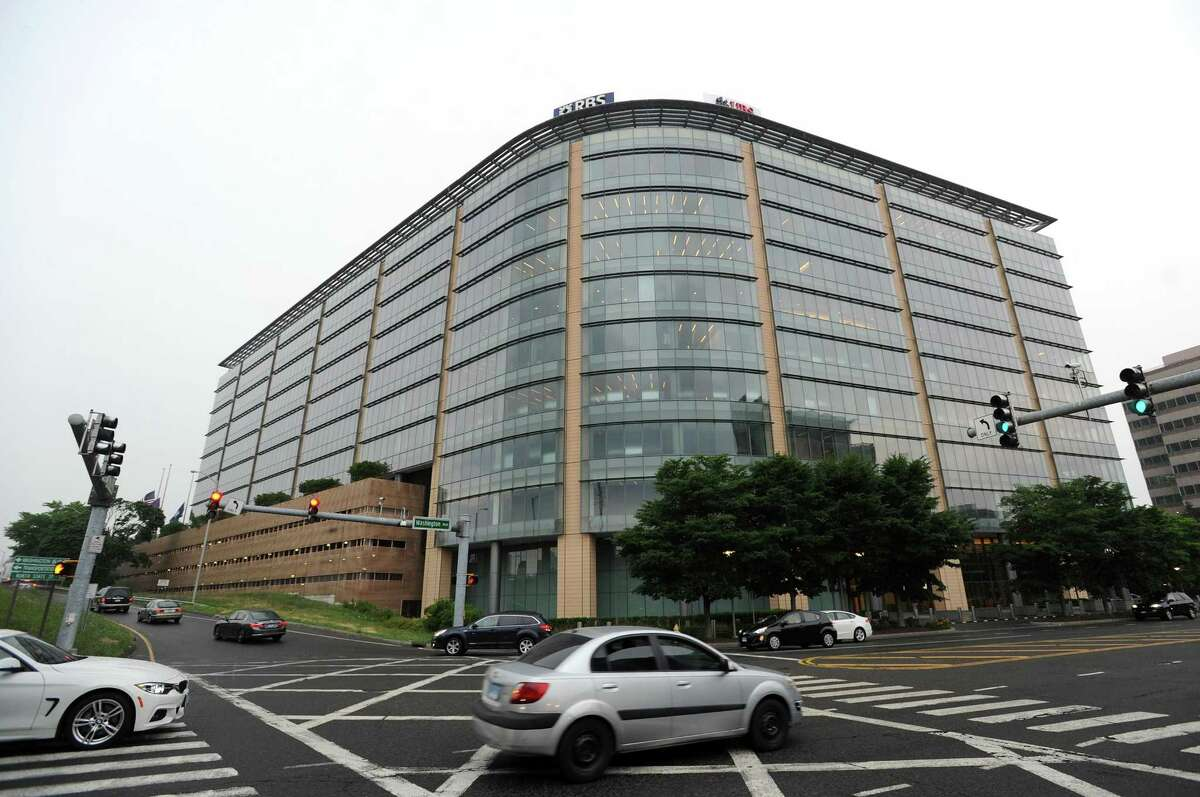 The downtown Stamford offices of Royal Bank of Scotland and UBS are located at 600 Washington Blvd.