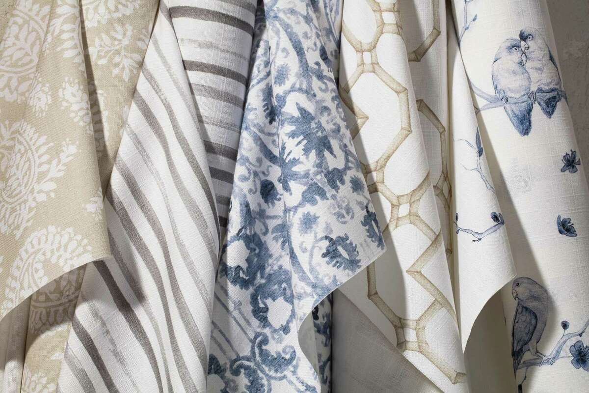 The Shade Store, which has a location in Greenwich, recently joined forces with One Kings Lane, a home decor business, led by New Canaan, Connecticut, resident Debbie Propst, to develop a designer fabric collection for window treatments. A mix of vintage and contemporary, the textiles speak to growing trend of mixing prints and patterns.