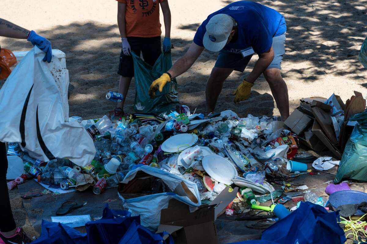 Nearly 500 volunteers with Keep Tahoe Blue picked up 1,458 pounds of trash on July 5 walking 6 miles of beach including Commons Beach in Tahoe City, Kings Beach, Kiva Beach, Nevada Beach and Regan Beach in South Lake Tahoe.