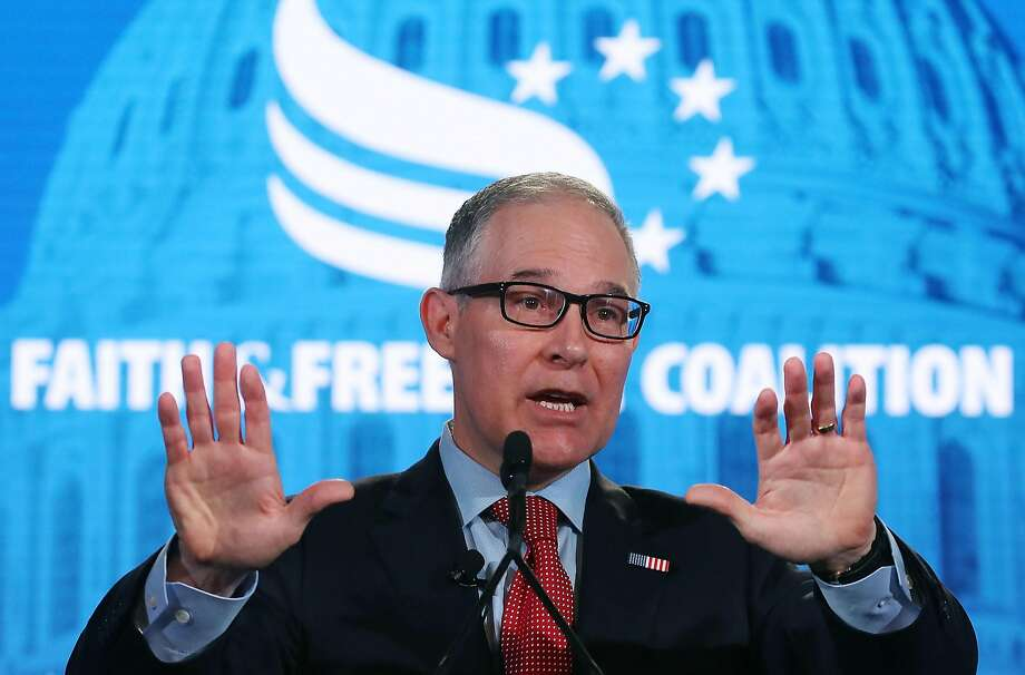 Environmental Protection Agency chief Scott Pruitt resigned  Thursday amid a growing list of ethics scandals. Photo: Mark Wilson / Getty Images