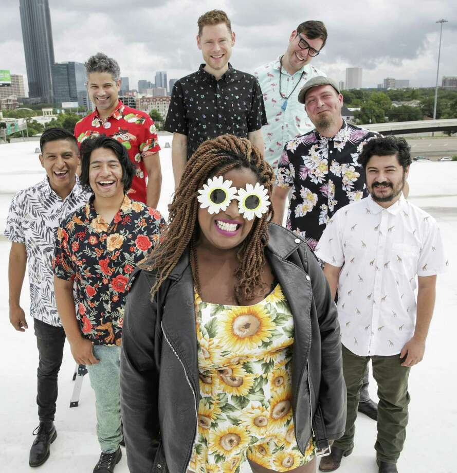 Members of The Suffers pose for a photo in Houston. Photo: Elizabeth Conley,  Chronicle / Houston Chronicle / ©2018 Houston Chronicle