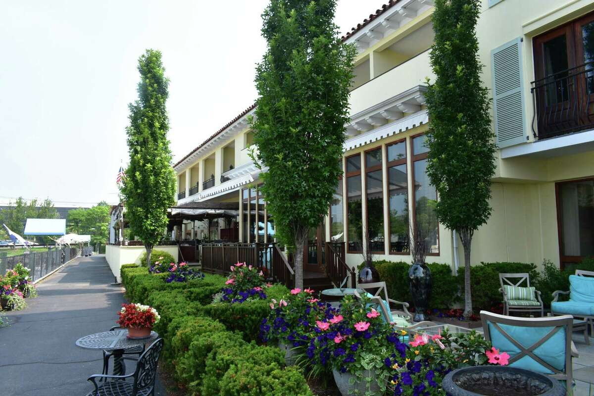 The Delamar Greenwich Harbor Hotel in Greenwich, Conn., in June 2018. Through the first five months of the year, Fairfield County hotels saw a surge in business, with occupancy rates up 11.5 percent from the same period a year earlier.