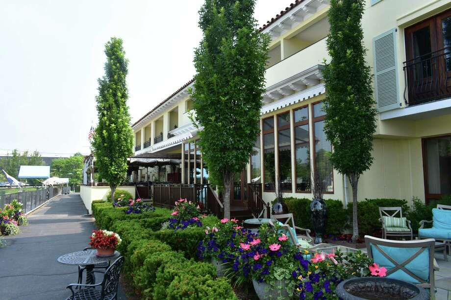 The Delamar Greenwich Harbor Hotel in Greenwich, Conn., in June 2018. Through the first five months of the year, Fairfield County hotels saw a surge in business, with occupancy rates up 11.5 percent from the same period a year earlier. Photo: Alexander Soule / Hearst Connecticut Media / Stamford Advocate